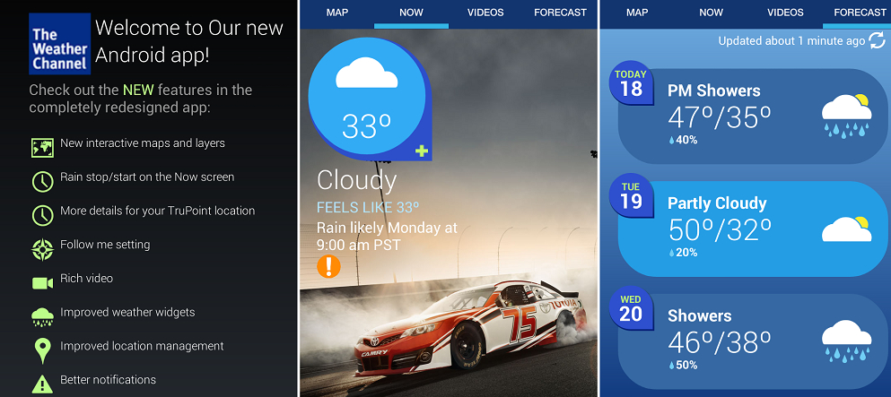 The Weather Channel 2014 app |