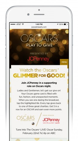 JCPenney's Oscars Play To Give