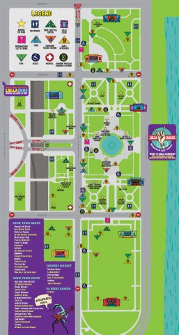 Lollapalooza map