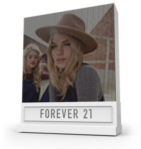 Forever21 Instagram followers — the brand has over 7 million worldwide — will be able to see their images rendered on a 2,000 machine using 6.7 miles of threaded spools.