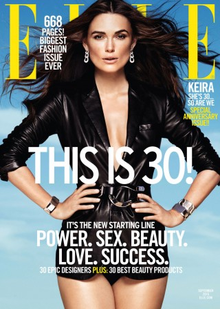 Elle's 30th Anniversary issue, with actress Keira Knightley on the September cover, will promote the mag's Shop Now! program.