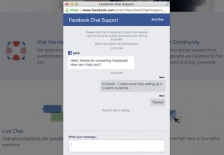 """Mentions of """"Live Chat Support"""" on Facebook get cheers from SMBs, Czaja says."""
