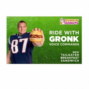 Waze And Dunkin Donuts Draft The Patriots' Gronkowski For