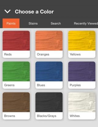 Choose A Color With Home Depot