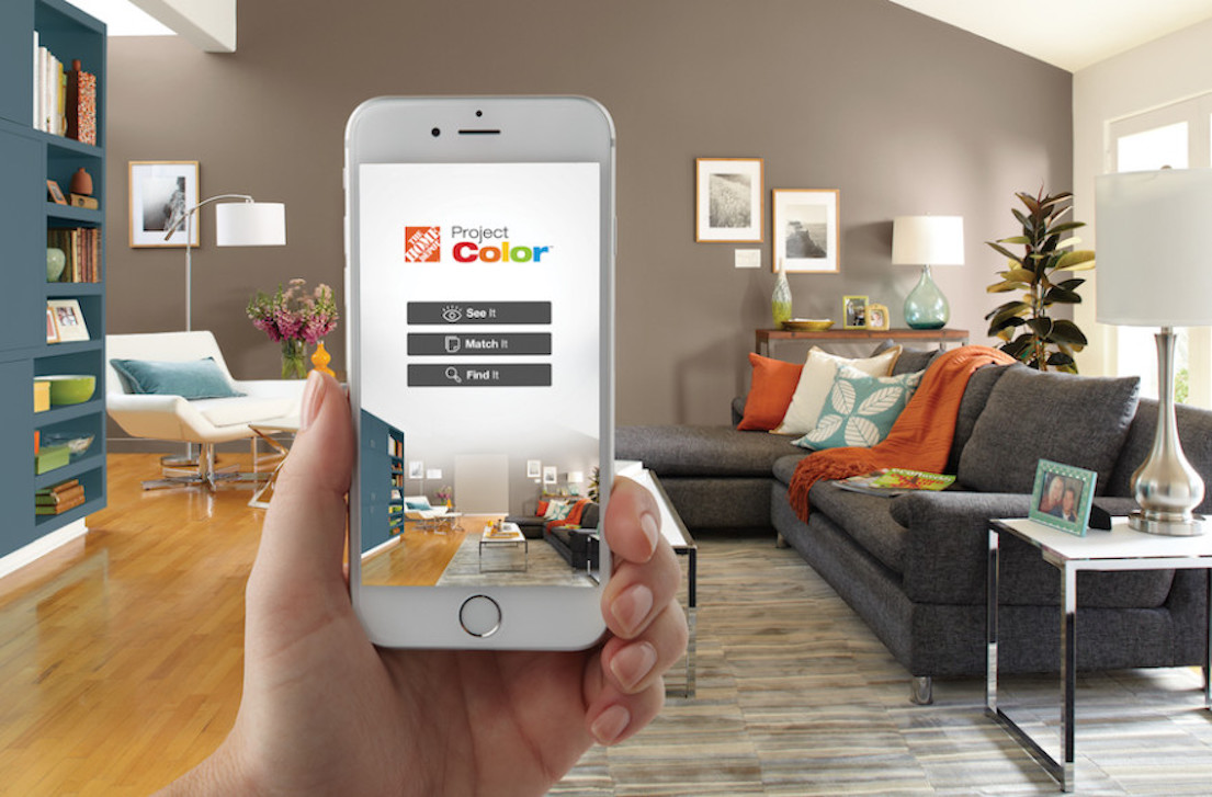 Home depot s project paint app adds color to omnichannel for Room design app