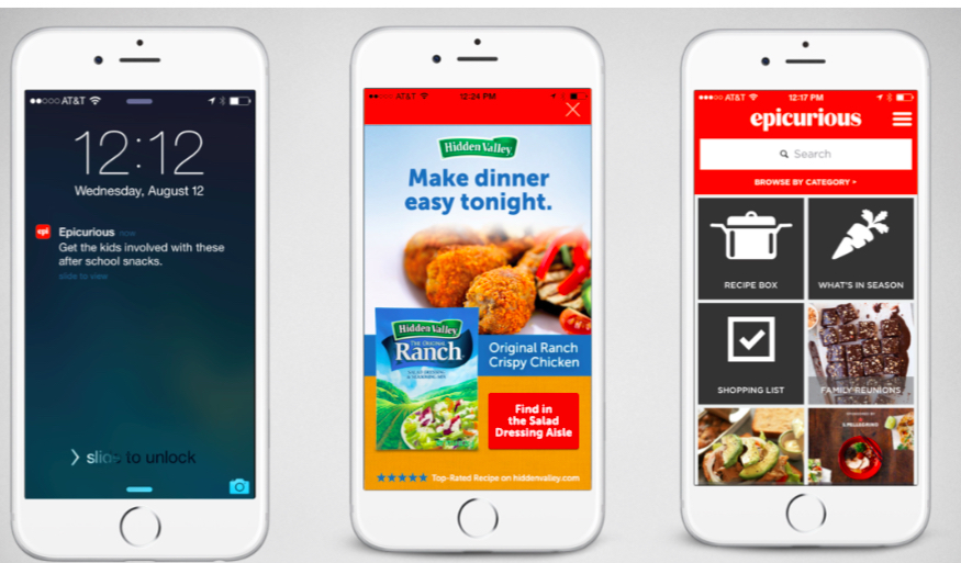 Conde Nast's Epicurious app is a natural platform for CPG brands and retailers.