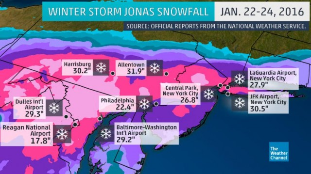 The Weather Channel's Winter Storm Jonas overview