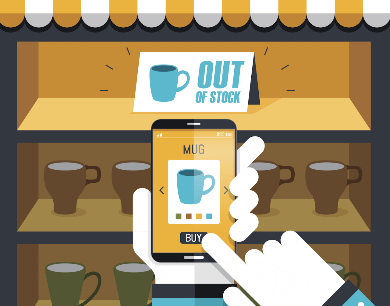 Brick-And-Mortars With A Strong Mobile Marketing Game Do Better Than Standalone, Says Salesforce