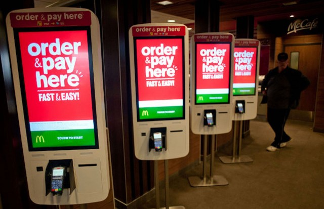 McDonald's video terminals could be connected to beacons and back to consumers' iPhones for faster ordering.