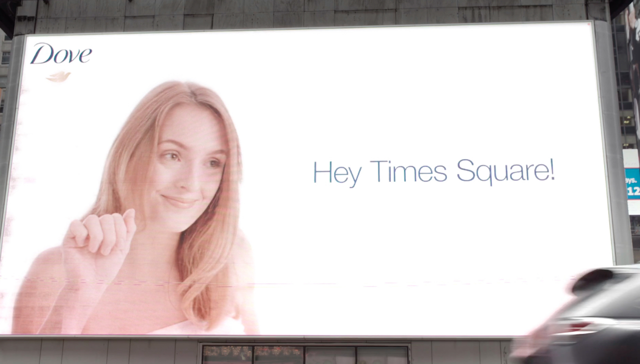 How Dove Cleaned Up Times Square With Weather Triggered