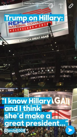 Hillary's Geoilter tweeted out by Jenny Shaab Marder