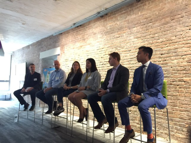 Cadillac's Nathan Tan at the Brand Innovators summit (on the far right)