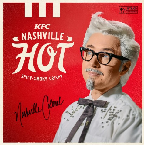"""""""KFC is bringing back its spicy, smoky Nashville Hot Chicken with a new rebellious Nashville Hot Colonel played by actor Vincent Kartheiser,"""" KFC says."""