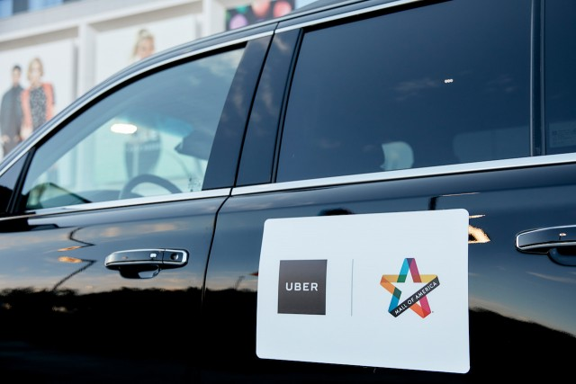 Mall of America and Uber alliance