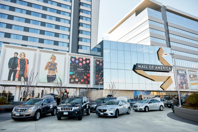 The MoA streamlined the Uber pick-up and drop-off points around the 2.5 million square-foot mall.
