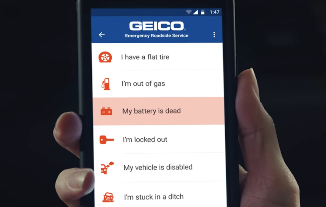 Geico Roadside Assistance Tv Spot Highlights Location Services