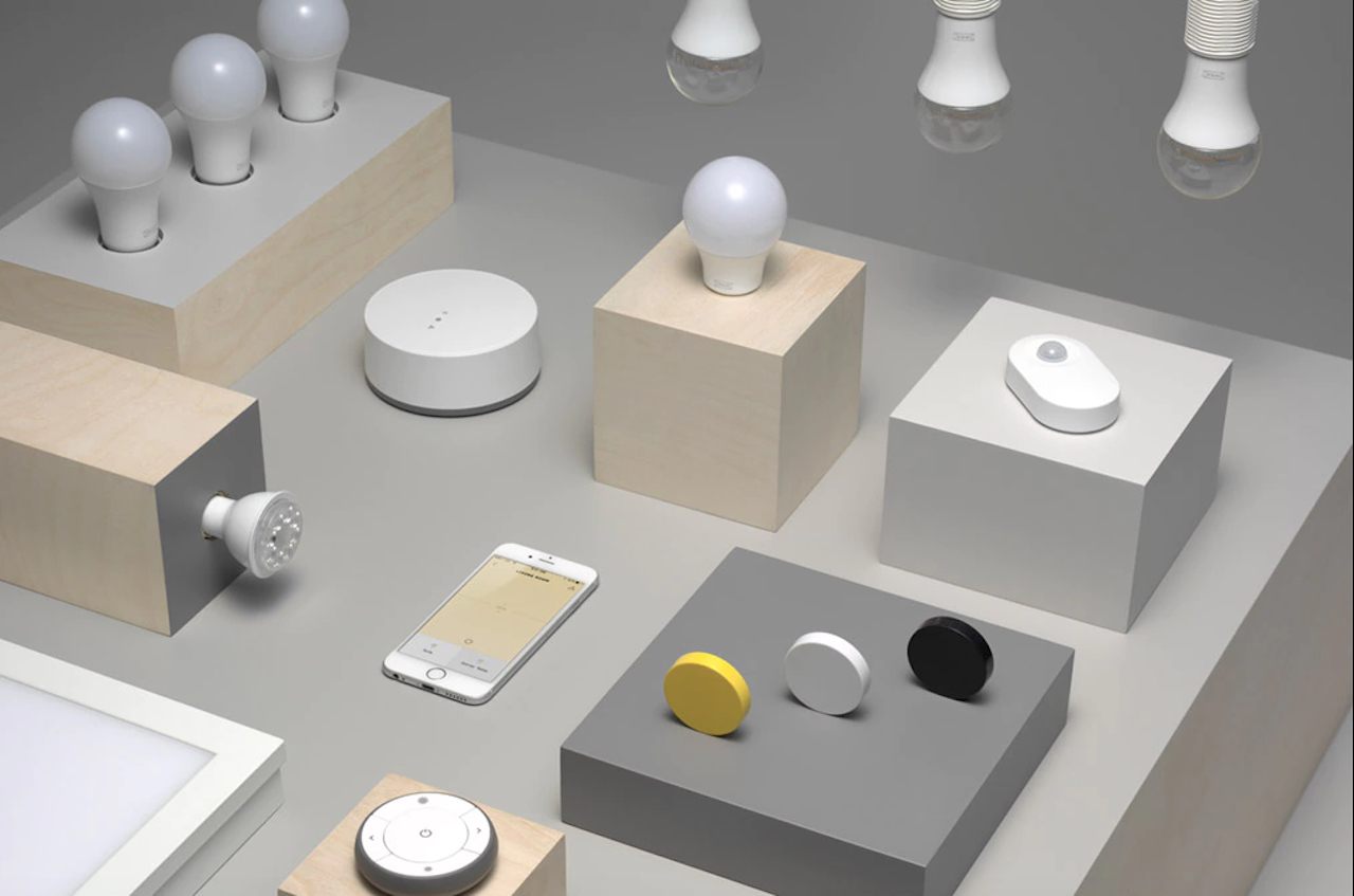 ikea smart lighting products  connect  voice