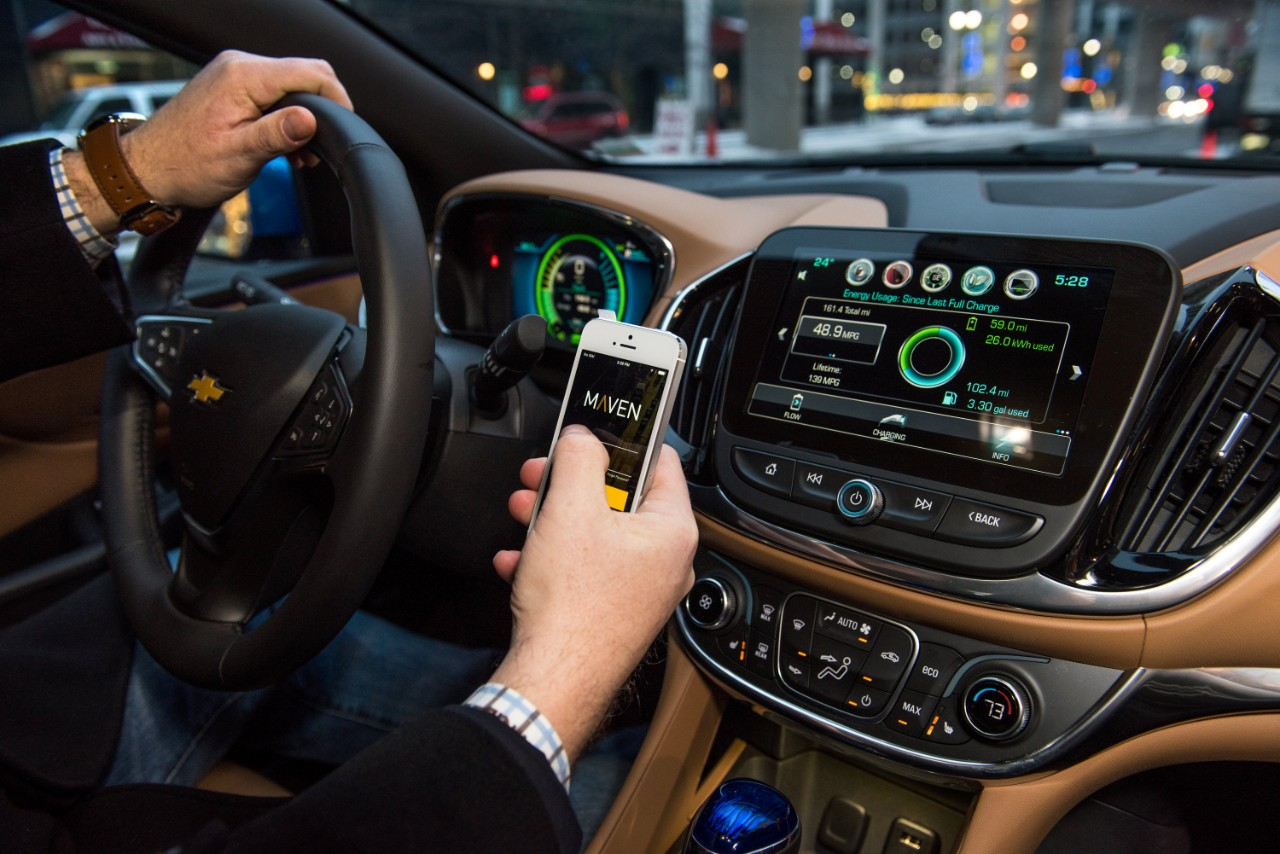 In less than two years, General Motors' app-based Maven program has spread across 17 cities and extended into three branches: the general car-sharing option ...