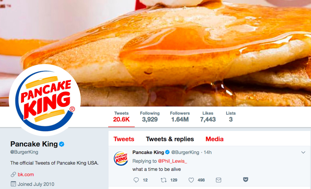 Burger King got into the act as QSRs joined the social media frenzy over 'IHOb